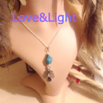Blue Turquoise  FEATHER SPARKLE NECKLACE  LN-3